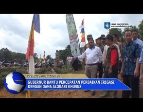 Embedded thumbnail for Gubernur Bantu Percepatan Perbaikan Irigasi